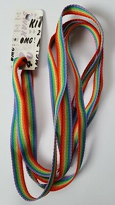 12 Pairs Rainbow Boot/Shoe Laces. Clearance