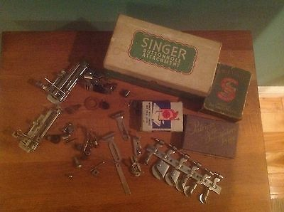Group Vintage Singer Sewing Attachments