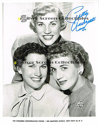 PATTY ANDREWS - THE ANDREWS SISTERS - AUTOGRAPHED PHOTO w/COA