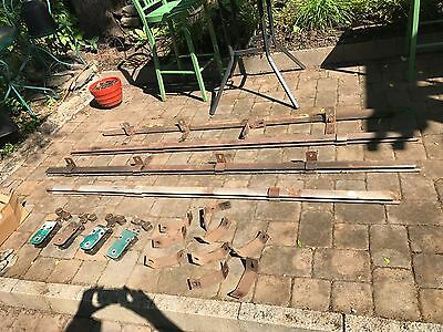 vintage antique barn door sliders rollers and track with hardware