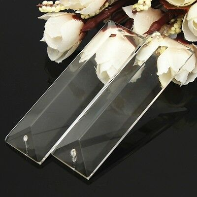 1X Clear Chandelier Glass Crystals Lamp Part Prisms Hanging Drops Pendants 76mm