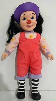 "The Big Comfy Couch Loonette Doll 15"" Clown Doll Soft Body Vinyl Head 1997 HTF"