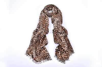 Women Fashion Accessory Street/Chic Real-Looking Leopard Print Large Scarf