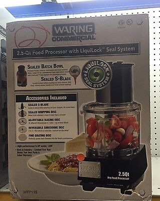 waring commercial 2.5 qt food processor