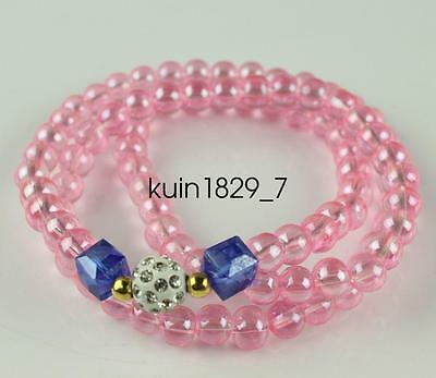 China fashionable Pink bead Bracelet and necklace LJQ416