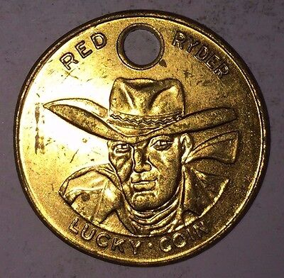 "Red Ryder Lucky Coin - ""Penney's for Super Value"" Vintage Good Luck Token"