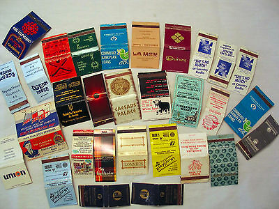 Lot of Matchbook Covers 30 count - Covers Only no Matches