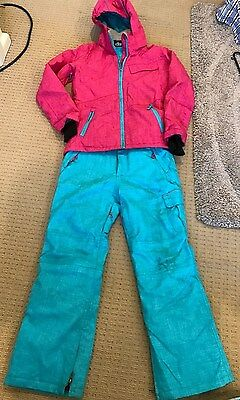 Girls ski snow jacket and pants - excellent condition - size 12