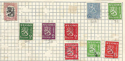 FINLAND -  lot of 9 STAMPS