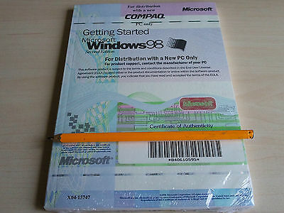 New Vintage Windows 98 2nd Edition COMPAQ Microsoft Getting Started Guide Book