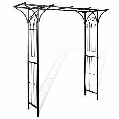 Garden Metal Rose Arch 200x206cm Outdoor Wedding Patio Arbor Gardman Arbour Gate
