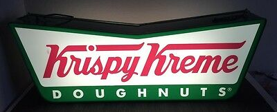 Krispy Kreme 2-sided Lighted Sign Bowtie Shape Ready to Hang or Sit for Display