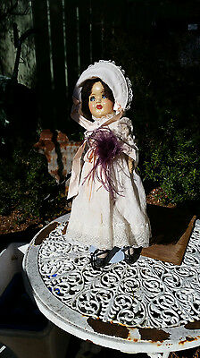 Tall vintage hard plastic doll with Lace dress