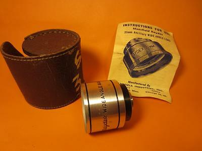 Vintage Raydex Aux 35mm Aux Camera Lens with leather snap case Camera Projector