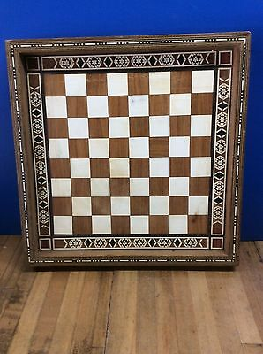 Vintage Indian inlay chess board/box