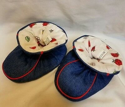 Denim slipper socks baby 0-6 months NEW