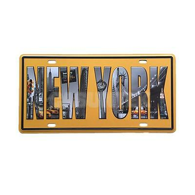 New York Beer Pub Tavern Tin Sheet Retro Metal Sign Vintage Wall Decor Plaque