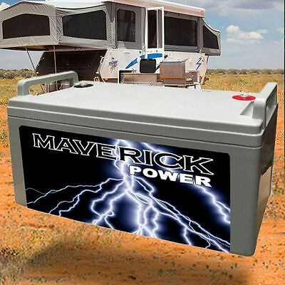 12V 165Ah CAMPER DEEP CYCLE BATTERY POWER FRIDGE CARAVAN / LED
