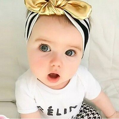 Newborn Infant Baby Kids Cotton Headband Knotted Bow Head Wraps Hair Accessories