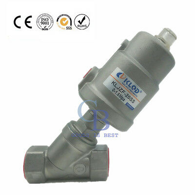"1/2"" NPT Stainless Steel Single Acting Air Actuated Angle Seat Valve NC"