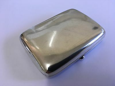 Super Edwardian Solid Silver Cigarette Case by Henry Williamson Ltd B'ham 1905
