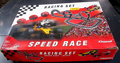 lightly used  CARRERA 1:43 scale 473 slot car racing set