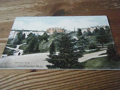 R.b.  Card - View From The Park At  Llandrindod  Wells   Unused Card  Vgc