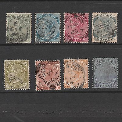Jamaica 1883 Selection Of Queen Victoria Stamps To Two Shillings (8)