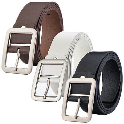 Men's Casual Vintage Waistband Luxury Leather Prong Belts Belt Waist Strap Belts