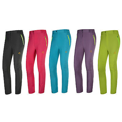 Women Outdoor Quick-Drying Trousers Lightweight Breathable Waterproof Pants