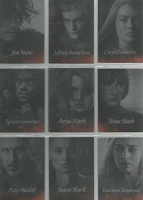 "Game of Thrones Season 4 - ""Valar Morghulis"" Set of 20 Chase Cards #G1-20"