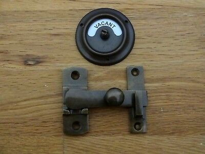 Antique Finish Vacant Engaged ⭐️⭐️⭐️⭐️⭐ Toilet Bathroom Lock Bolt Indicator Door