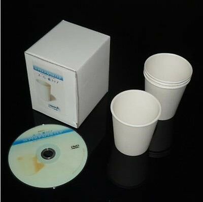 Super Paper Cup (Gimmick+DVD) - Magic Trick,Close Up,Illusion,Stage,super effect