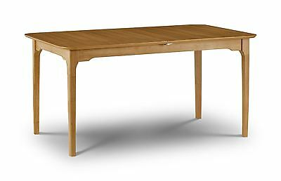 Julian Bowen Ibsen Light Oak Wood Extendable Dining Table (Table Only) Solid