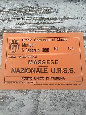 Massese (italy)- urss/Russia , friendly Match 6th february 1990 rare ticket !!