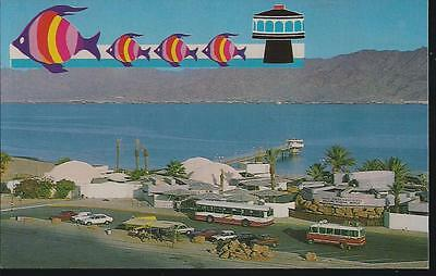 a  vintage post  card: eilat-underwater observatory,  israel  A8/14
