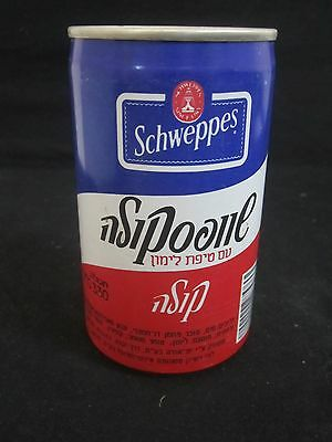Schweppes  cola   lemon : a 330 ml  empty  can,  israel,  90's