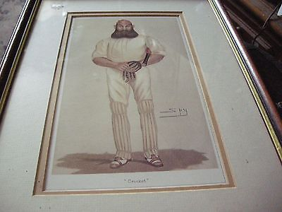 cricket picture signed by spy