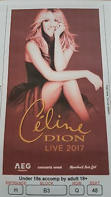 celine dion tickets x2 london o2 arena tuesday 20th June