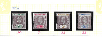 LEEWARD ISLANDS 1902 Low Value Definitives to 2 1/2d - SG 20/23 - m/m