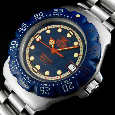 Tag Heuer Professional Formula 1 Wa1210 Diver Wr-200M Mid-Size Herren Uhr + Date