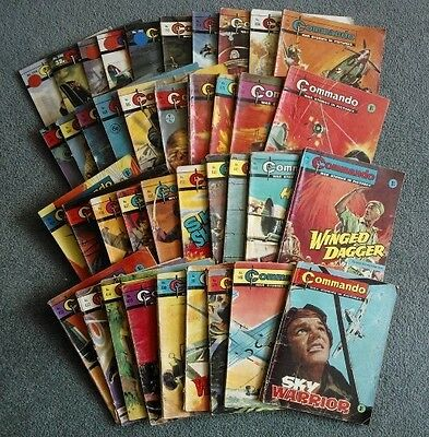 Job lot 39 Commando comics and 16 other Picture Library comics