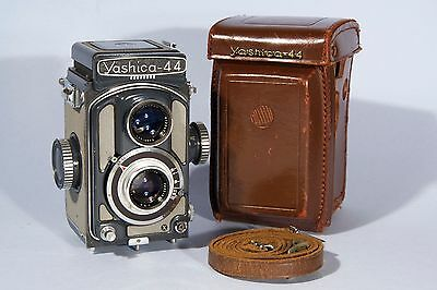 "Yashica 44A TLR 4X4 ""Baby Grey"" Camera Yashikor 60mm f/3.5 Lens"