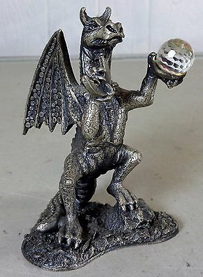 Myth & Magic Tudor Mint The Dragon of the Moon Collectable Metal Figurine