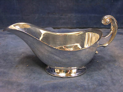 Vintage Silver Plate Sauce Boat - Early 20th C [3378]