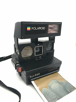 Polaroid Sun660 AutoFocus Instant Camera, Using 600 Film - tested