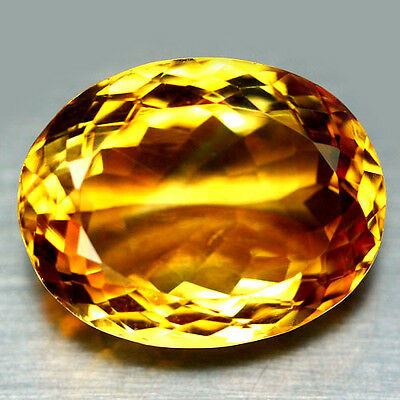 12.54 Ct Aaa! Natural! Yellow Brazil Citrine Oval