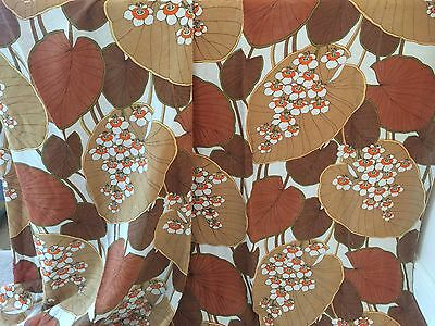Vintage 1970s Curtains/Fabric-Pair-Flowers