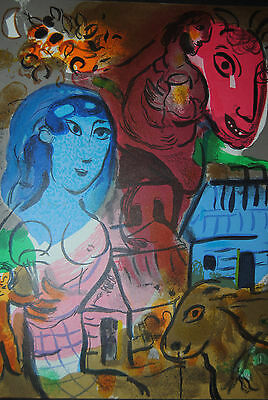 Hommage 'a Marc Chagall - mit  1 Original-Farblithographie - 1976