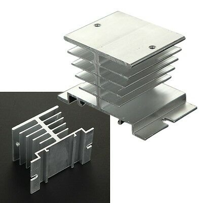 Silver Aluminum Heat Sink For Solid State Relay SSR Small Type Heat Dissipation